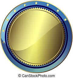 błękitny, 10), (vector, eps, nagroda, srebrzysty