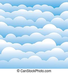 błękitny, ablegry, chmury, to, lekki, abstrakcyjny, zawiera, -, ilustracja, kolor, wektor, tło, (backdrop), 3d, graphic., puszysty