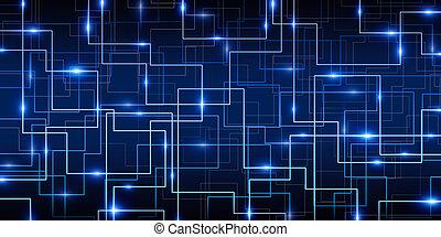 błękitny, abstrakcyjny, cyber, tło