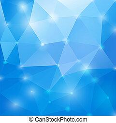 błękitny, abstrakcyjny, eps10., polygonal, tło., wektor