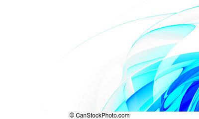 błękitny, abstrakcyjny, gładki