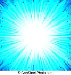 błękitny, abstrakcyjny, gwiazda, tło, pękać