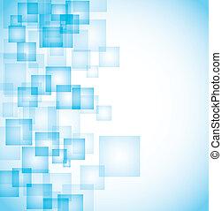 błękitny, abstrakcyjny, kwadraty, tło