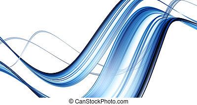 błękitny, abstrakcyjny, machać