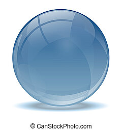 błękitny, abstrakcyjny, piłka, 3d, ikona