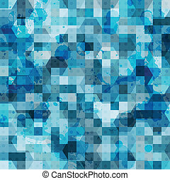 błękitny, abstrakcyjny, skwer, grunge, seamless