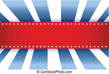 błękitny, amerykańska bandera, biały, projektować, czerwony