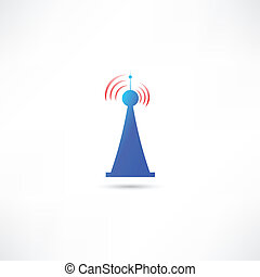 błękitny, antena