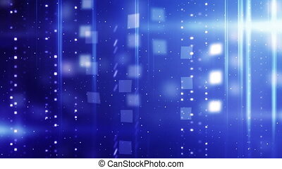 błękitny, błyszczący, technologia, wstecz, pętla