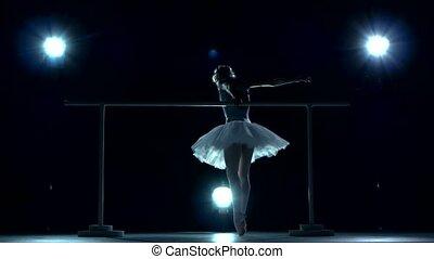 błękitny, baletnica, tutu, biały