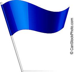błękitny, bandera, wektor, ilustracja