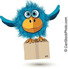 błękitny boks, ptak