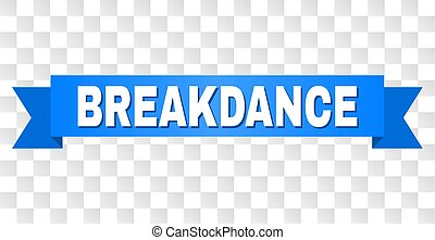 błękitny, breakdance, wstążka, tytuł