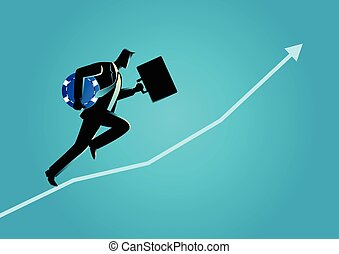 błękitny briefcase, wiór, wyścigi, transport, biznesmen