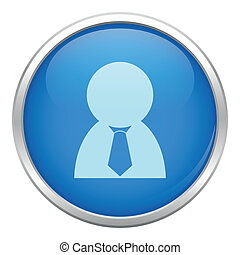 błękitny człowiek, handlowy, ikona