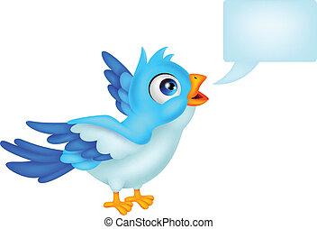 błękitny, czysty, ptak, znak