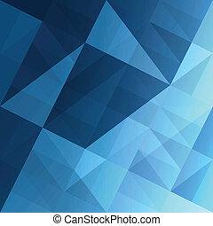 błękitny, eps10, abstrakcyjny, tło., wektor, triangle