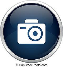 błękitny, fotografia, ikona