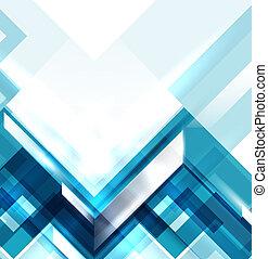błękitny, geometryczny, nowoczesny, abstrakcyjny, tło