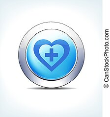 błękitny, guzik, wektor, plus, jeleń, ikona
