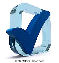 błękitny, jakość, tykać, doskonałość, widać