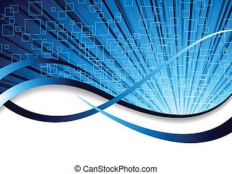 błękitny, kolor, abstrakcyjny, wektor, tło