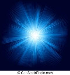 błękitny, kolor, eps, burst., projektować, 8