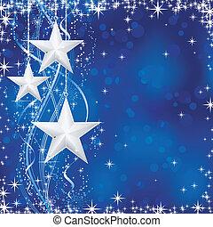 błękitny, kropkuje, gwiazdy, occasions., zima, transparencies., lekki, świąteczny, kwestia, śnieg, /, boże narodzenie, falisty, łuski, nie, tło, twój