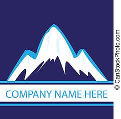 błękitny, logo, marynarka wojenna, góry
