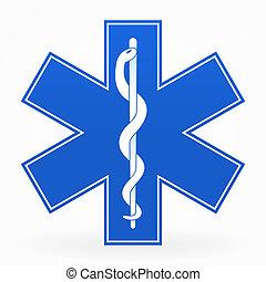 błękitny, medyczny znak