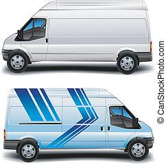 błękitny, minibus