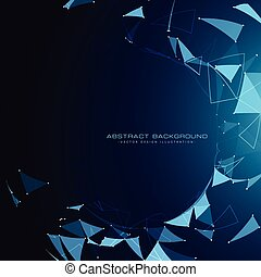 błękitny, modeluje, abstrakcyjny, technologia, tło