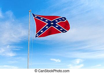 błękitny, na, niebo, bandera, tło, sprzymierzać się
