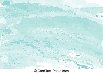 błękitny, nachylenie, abstrakcyjny, akwarela, tło