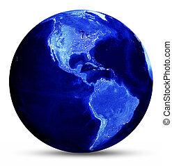 błękitny, obsypać mapę
