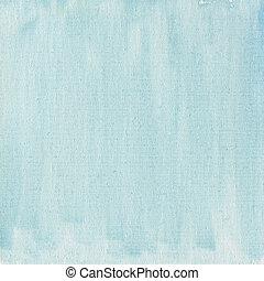 błękitny, płótno, lekki, abstrakcyjny, struktura, akwarela