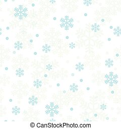 błękitny, pastel, płatki śniegu, próbka, seamless, boże narodzenie