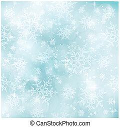 błękitny, pastel, zima, próbka, miękki, boże narodzenie, mglisto