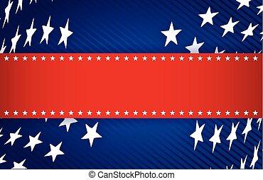 błękitny, patriotyczny, biały, ilustracja, czerwony
