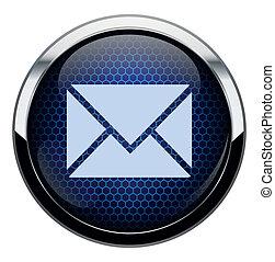 błękitny, poczta, icon., plaster miodu