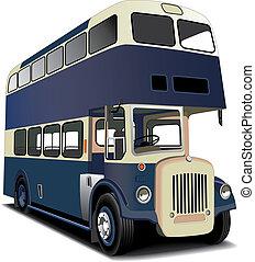 błękitny, podwójcie się bardziej pokładowy autobus