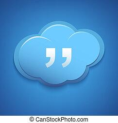 błękitny, pojęcie, obliczanie, poznaczcie., sky., chmura