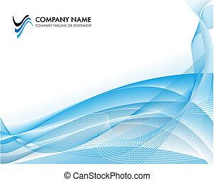 błękitny, pojęcie, tło, handlowy, -, ocean, jasny, szablon, zbiorowy