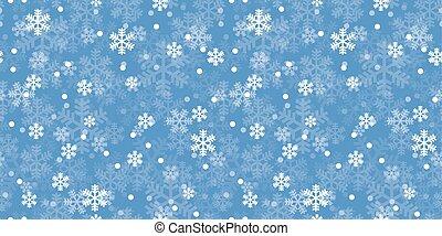 błękitny, próbka, powtarzać, boże narodzenie, płatki śniegu