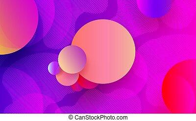 błękitny, różowy, koła, kolor, lekki, abstrakcyjny, modeluje, tło, geometryczny