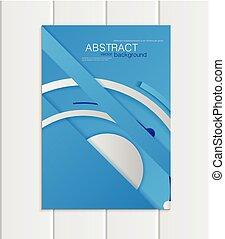 błękitny, styl, format, tworzywo, element, wektor, a5, a4, broszura, projektować, zbiorowy, albo