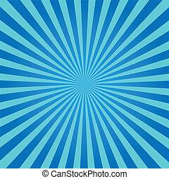 błękitny, sunburst