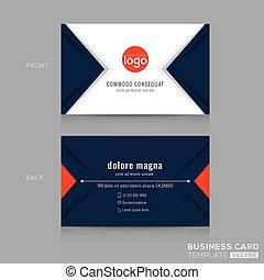 błękitny triangel, handlowy, abstrakcyjny nowoczesny zamiar, marynarka wojenna, karta