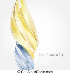 błękitny, złoty, abstrakcyjny, jasny, wektor, tło
