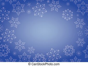 błękitny, zima, nachylenie, boże narodzenie, tło, brzeg, płatek śniegu